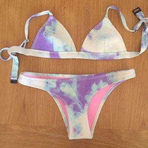 Triangl Purple and White Tie Dye Bikini!
